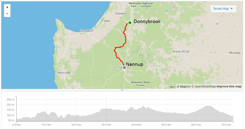 donnybrook-to-nannup-map-and-elevation