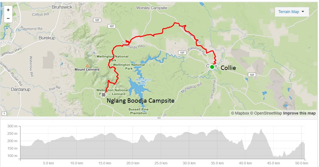 collie-to-nglang-boodja-campsite-map-and-elevation